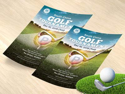 Golf Tournament Flyer Design