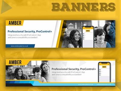 Amber Banner Design