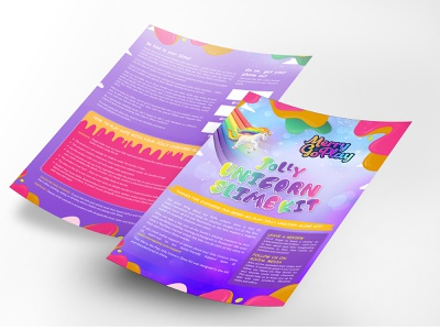 Jolly Unicorn Slime Kit Flyer Design flyer design poster graphics instagram flyer design advertisement ad nisha droch nisha