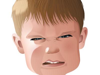 Vector Child Portrait illustrator illustration portrait vector