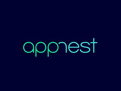 Logo Design 'App Nest' Web Developers branding logo
