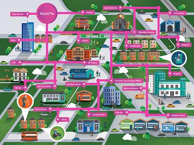 Illustration for Social Care Community Organisation illustration
