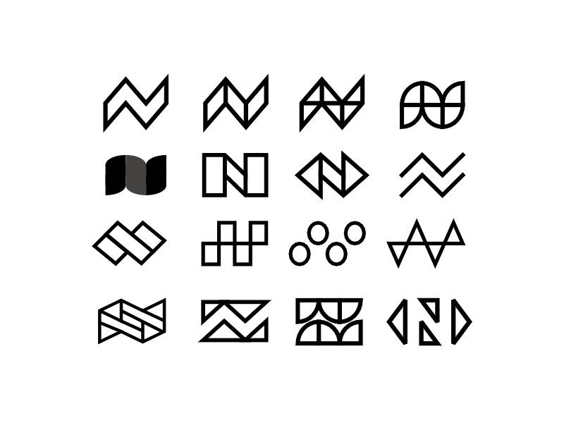 My Letter N Logo Edition Design Set Of 16 Logotypes By Dragutin