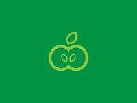 An Apple Logo Idea Branding Design
