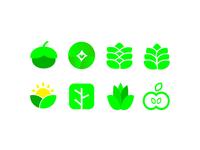 My Green Agricultural Logo Set Design