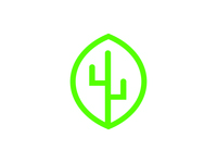 The Leaf Cactus Logo Rebounding