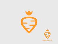 Super Carrot Logo Concept