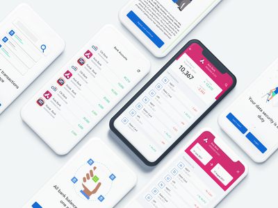 One Bank App statements transacions bank finance business all in one app ui design clean sketch app finance app banking app balance finance banking