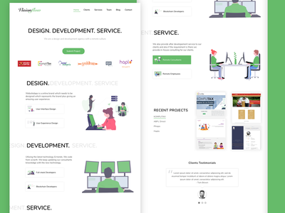 Visionflow illustration website ui design adobe xd undraw