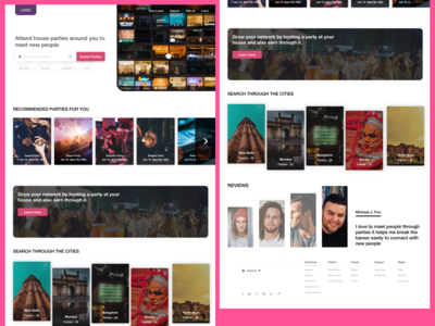 House party ( Landing page )