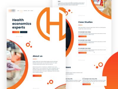 Health economics website homepage