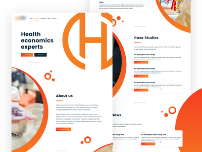 Health economics website homepage minimal website web ux branding design medtech medical gradient health homepage