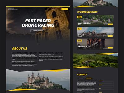 Drone Racing single page singlepage racing drone sports sport homepage design