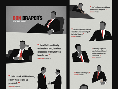 Mad Men Illustrations advertising don draper tv design mad men illustration infographic