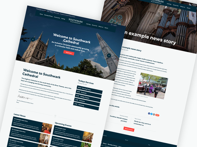 Cathedral Website background image web design article homepage website cathedral