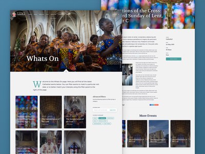 St George's Cathedral Events cathedral ux ui branding events calendar event website web design web