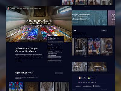 St George's Cathedral Dark Mode gradient web design cathedral ux ui website web design dark ui dark mode dark homepage home