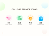 College service icons