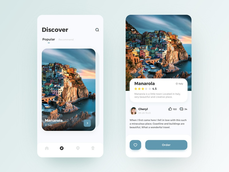 A Travel App Concept ux ui interface travel