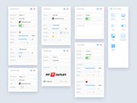 UI Elements settings module elements interface grid sidebar design dashboard simple minimal ux app ui