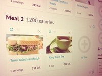 Meals page