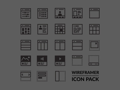 Wireframer icon pack icons wireframe layout free vector svg collection freebies pack