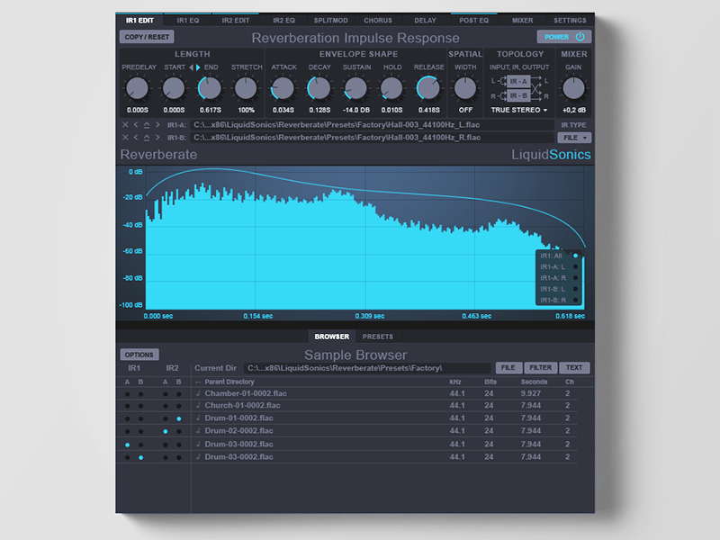 Reverberate Audio plugin software music flat ui ux vst audio plugin reverb