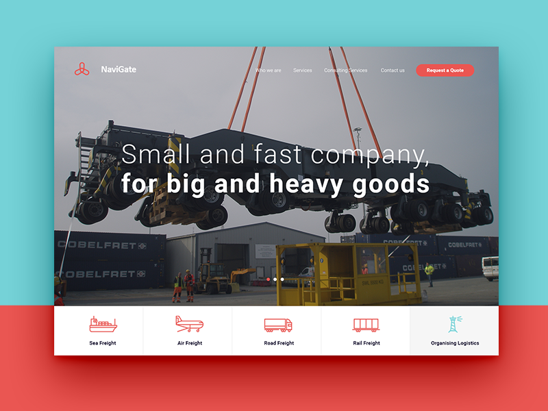NaviGate industrial movement europe service delivery goods logistics forwarding