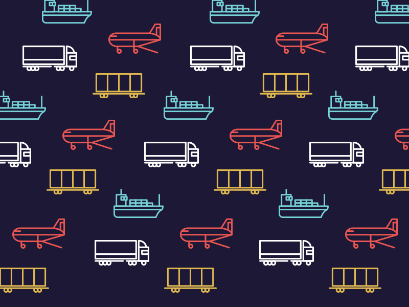 Logistics Icons cargo vector truck ship foreward movement logistics set download freebie free icons