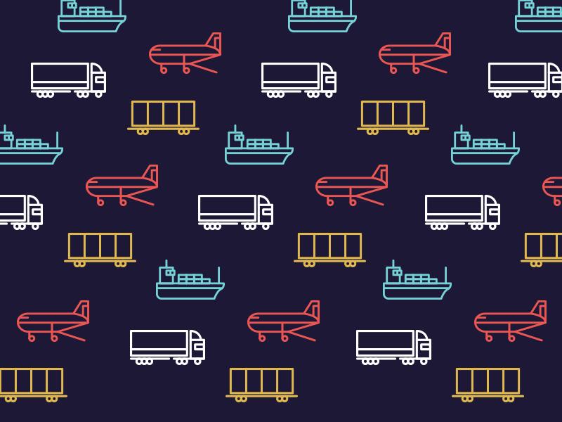 Logistics Icons cargo vector truck ship foreward movement logistics set download freebie free icons