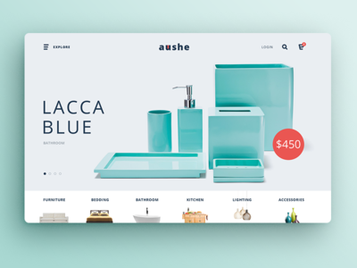Aushe Home Page slider furniture minimal shop store ecommerce themeforest template