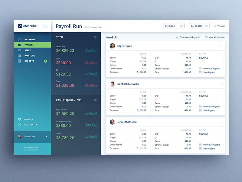 Abletribe webapp online bank payment finance admin panel app ux ui dashboard