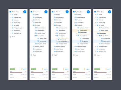 App Sidebar interace file explorer file sharing file manager upload sidebar design dashboard material redesign simple minimal ux app ui