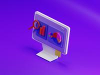 All about data app render lowpoly blender 3d 3d art 3d ux ui design illustration