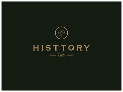 Histtory Tea Identity elegant luxury logo tea branding identity