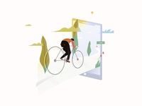 Illustration for the Bike Insurance Company