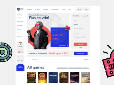 Bitcoin Casino Redesign Draft