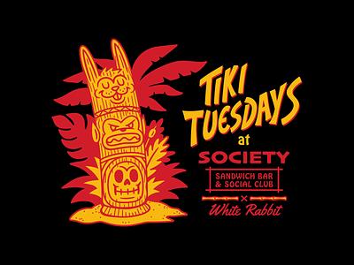 Tiki Tuesdays Totem illustration