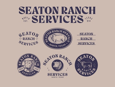 Logo Exploration for Seaton Ranch Services typography vintage font vector vintage design vintage badge graphicdesign branding handrawn illustration logo vintage logo vintage