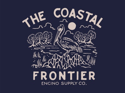 THE COASTAL FRONTIER badge cmptrules graphicdesign logo vintage logo illustration artwork vintage handrawn