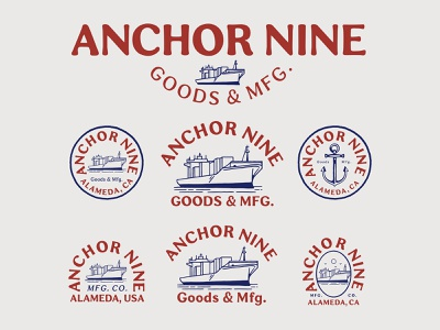 Branding design for Anchor Nine branding design brand identity badge logo vintage logo vector illustration branding handrawn vintage