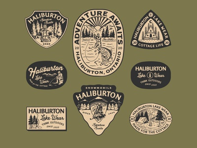 Design for Haliburton Lake Wear badge logo illustration handrawn branding badgedesign vintagebadge vintage logo vintage