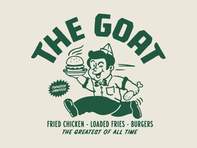 Graphic for The Goat, Netherlands vector graphicdesign junkfood branding vintage logo vintage illustration handrawn