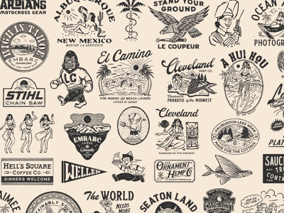 2020 archive artwork badge vintage logo illustration branding vintage handrawn