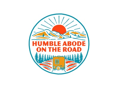 Logo for HUMBLE ABODE ON THE ROAD vector artwork illustration vintage logo vintage handrawn