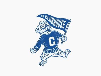 THE CLUBHOUSE MASCOT vintage design illustration vintage logo mascot logo vintagemascot mascot character vintage handrawn