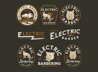 Branding design for ELECTRIC BARBER