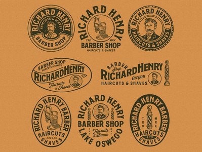 Branding design for Richard Henry Barber