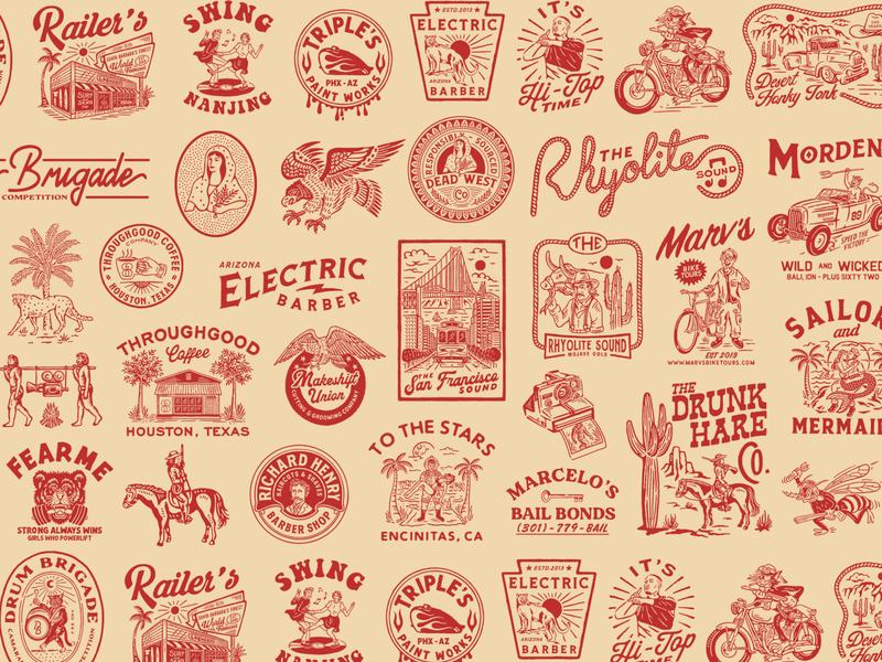2019 Archive. cmptrules vintage design badge logo branding handrawn vintage badge vintageinspiration vintage logo vintageart illustration