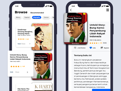 Book Library branding iphonex app ux ui flat adobexd